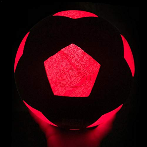 Further Balón De Fútbol Ilumina Incl - Balón De Fútbol con Luz LED Ultrabrillante Que Brilla Intensamente...