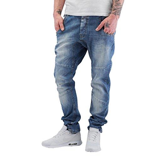 VSCT Clubwear Herren Jeans / Antifit Dan Deep Crotch O-Leg Blau