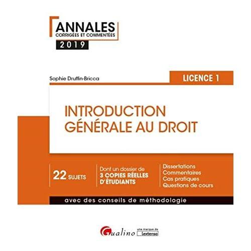 Introduction générale au droit Licence 1