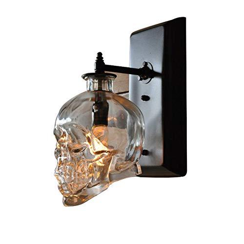 Halloween Schädel Weinflasche Wandlampe, Loft Persönlichkeit Kreative Wasser Stange Bar Wand Lampe Haunted Haus Liefert Dekorative (Halloween Wand)