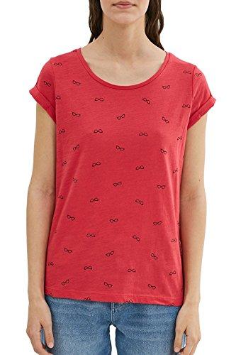 edc by Esprit 037cc1k024, T-Shirt Femme Rouge (Red)