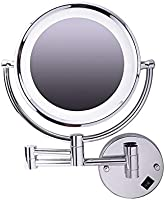 Cosmetic Magnifying Mirror with LED Lights, Silver, NH122