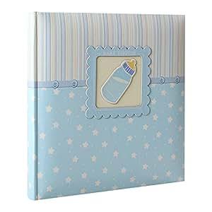 Album photo naissance baby oscar rose 40 pages blanches, Couverture en papier imprimé + boite cadeau, 80 photos 10x15 cm, Dimensions : 24x24 cm