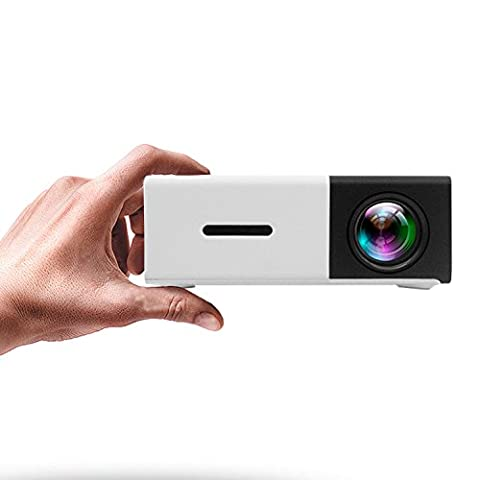 Mini Projector, ARTLII Home Theater LED Pico Projector with HDMI /USB/VGA/AV for Video Game Movies,Portable