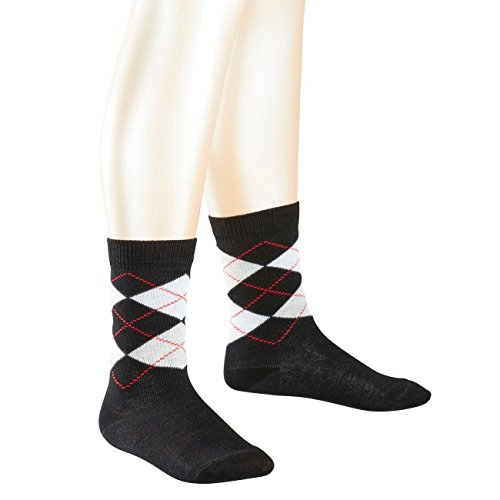 Preisvergleich Produktbild Falke Children Casual Socken Classic Argyle 6er Pack, Größe:19-22, Farbe:Black (3000)