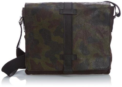 Jost Tampa Messenger Bag Large 1022, Borsa messenger uomo Verde (camouflage)