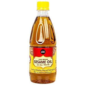 Urban Platter Cold Pressed Sesame Oil, 500ml [Premium Quality Filtered Cooking Oil, Rich in Vitamin & Minerals]
