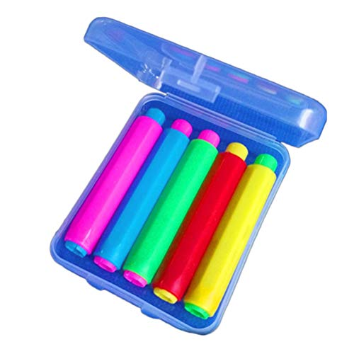 STOBOK 5 Stück farbige Kreide Halter mit Lagerung Hard Case für Lehrer Kinder Schule Bürobedarf, 9.5x1.5cm