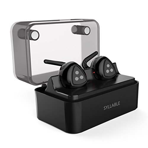 AURICULARES BLUETOOTH  SYLLABLE D900MINI AURICULARES BLUETOOTH 4 1 INALAMBRICO AURICULARES IN-EAR MANOS LIBRES CON MICROFONO AURICULAR DEPORTE ESTEREO HEADSET PARA IPHONE  SAMSUNG Y OTROS SMART PHONES  CON CAJA DE CARGA INTELIGENTE - NEGRO