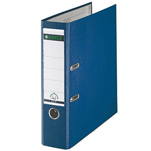 Leitz Qualitäts-Ordner, Plastik-Cover, A4, 8 cm Rückenbreite, Blau, 10105035