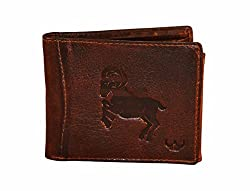 DHide Mens Designer Wallet - Genuine Leather Wallet for Men with 7 Card Slots & Goat - Tan Brown