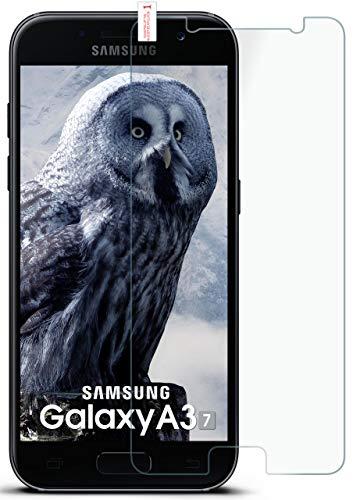 moex 9H Panzerfolie für Samsung Galaxy A3 (2017) | Panzerglas Display Glasfolie [Tempered Glass] Screen Protector Glas Displayschutz-Folie für Samsung Galaxy A3 2017 Schutzfolie Clear Screen Guard Protector