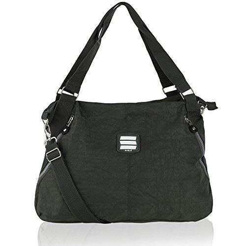 SUVELLÉ Lightweight Large Tote Travel Everyday Crossbody Bag Multi Pocket Shoulder Handbag 1932 ... (Zippered Bag Tote Handtasche)