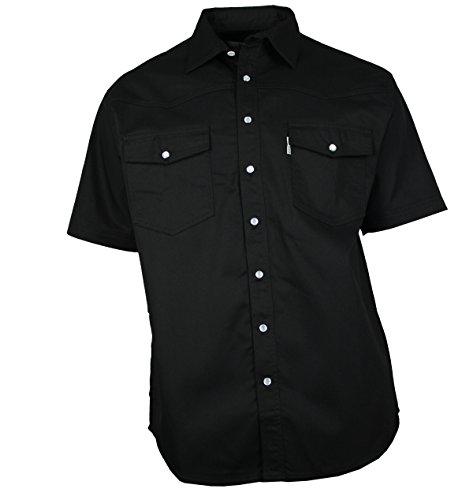 WESTERN-SPEICHER Jeanshemd Kurzarm Baumwolle schwarz , Größe XL (Kurzarm-jeanshemd Baumwolle)