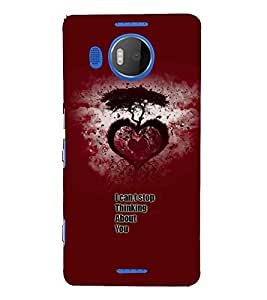Fuson Premium Only U Printed Hard Plastic Back Case Cover for Microsoft Lumia 950 XL