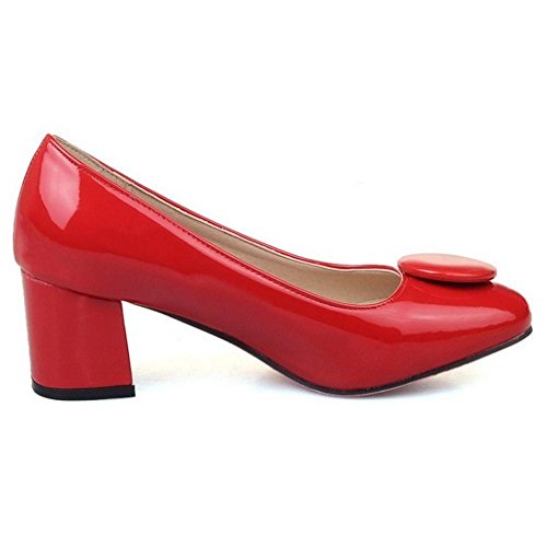 Moyen Escarpins Taoffen Talons Enfiler Chaussures Femmes A Chunky qq8B1x0