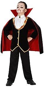 Atosa-39089 Atosa-39089-Disfraz Vampiro para niño Infantil-Talla, Color negro 7 a 9 Años (39089