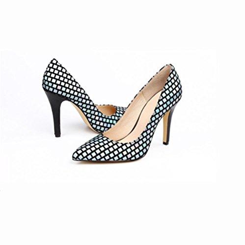 Qpyc Single Ladies Sneakers Nouvelles Chaussures De Paillettes Suggéré La Température Simple De La Bouche Peu Profonde Bleu