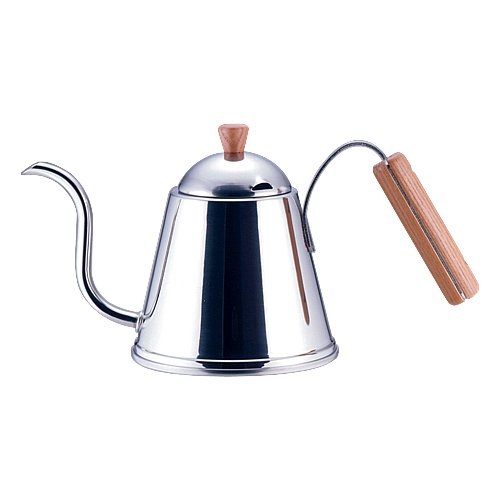 Yoshikawa 1 Litre Stainless Steel Cafe Time Drip Stove Kettle with Wooden Handle