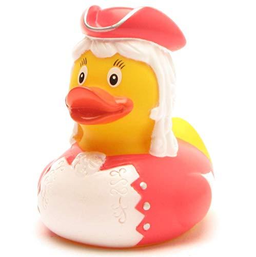 Duckshop I Funkenmariechen Badeente I Tanzmariechen Quietscheente I Karneval - L: 8 cm I inkl. Badeenten-Schlüsselanhänger im Set