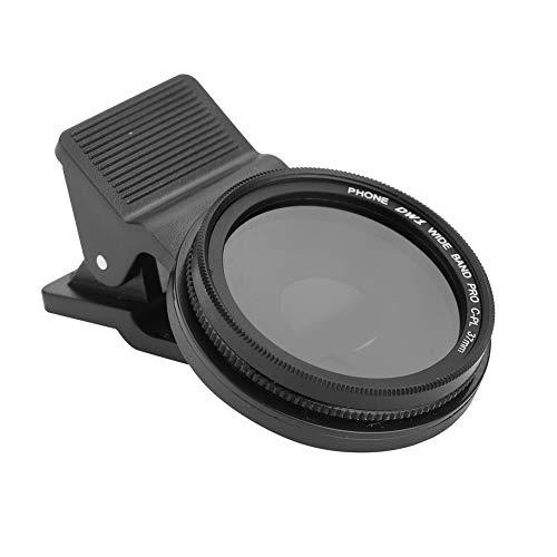 Tosuny ZOMEI Handy Objektiv Filter Handy Kamera Lens Kit Teleobjektiv Filter Universal Smartphone Linse Objektiv 37mm CPL-Linsenfilter für Mobiltelefon Smartphone