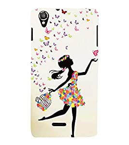 Fiobs Designer Phone Back Case Cover Lava Pixel V1 ( Beautiful Gal Butterfly Girl )