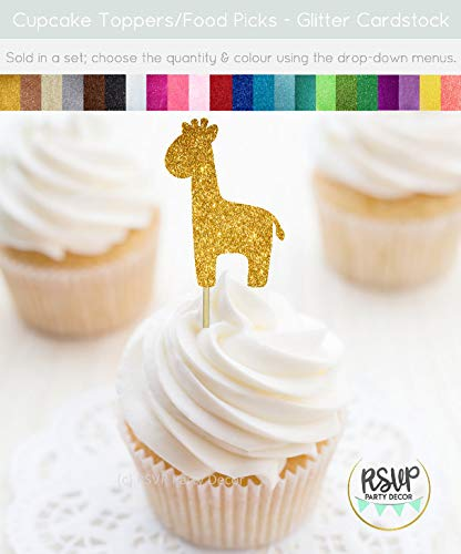 Andrea1Oliver Giraffe Cupcake Toppers Giraffe Essen Picks Giraffe Thema Baby Dusche Dekor Safari Cupcake Toppers Safari Party Dekor Zoo Party Dekor