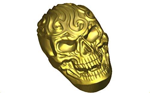 1pc Schädel Menschlichen Scary Halloween-Kopf-Kunststoff-herstellen von Seife Wachs Schokolade Gips-Käse-Cookies, Gelatin Mold Casting-Nahrungsmittelgrad-Form