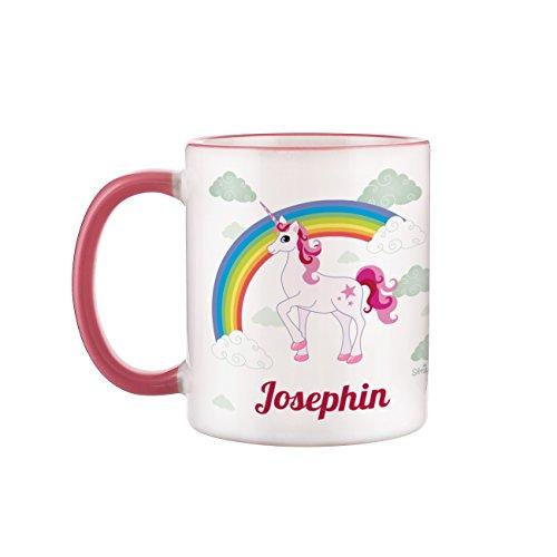Tasse mit Einhorn und Wunschnamen für Mädchen