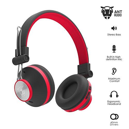 Ant Audio Treble H82 Wireless Bluetooth Headphone (Black and Red)