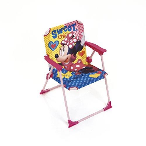 ARDITEX Silla Plegable para niños bajo Licencia Minnie Mouse (Metal, Dimensiones: 38...