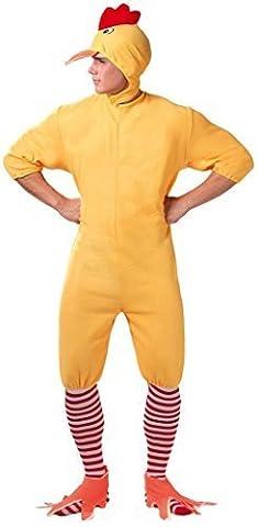 Erwachsene Herren Damen Entchen Ente Ostern Küken Huhn Henne Do Hirsch Do Neuheit Buch Tag Henne Bauernhof Vogel Tier Thanksgiving Fancy Kleid Kostüm Outfit - Gelb, L