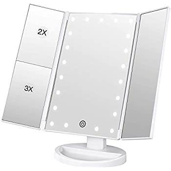 Bestope Lighted Makeup Mirror 2x 3x Magnification Vanity