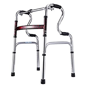 WZHWALKER Gehhilfe Für Ältere Menschen, Gehhilfe Aus Aluminiumlegierung, Vierfuß-Zweirad-Gehhilfe, Multi-Style Optional