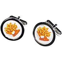 Fish and Chips Cufflinks