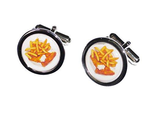 Fisch und Chips Manschettenknöpfe -