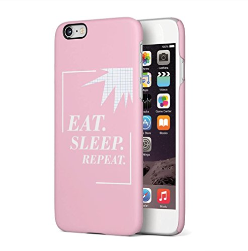 Save Me, In JPG or PDF? Apple iPhone 6 / iPhone 6S SnapOn Hard Plastic Phone Protective Custodia Case Cover Eat Sleep Repeat