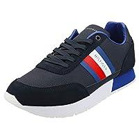 Tommy Hilfiger CORPORATE MIX FLAG RUNNER, Men's Shoes, Blue, 44 EU