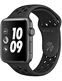 Apple Watch Nike+, 42 mm, GPS, Aluminium Gehäuse, Space Grau mit Nike Sportband, Anthrazit/Schwarz, 2017