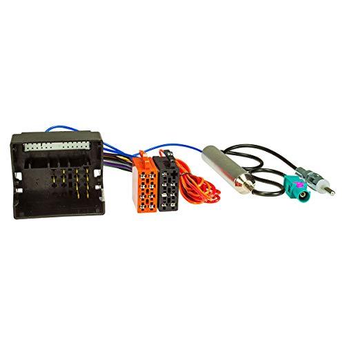 tomzz Audio 7039-001 Radio Adapter Kabel passend für Opel ab 2003 Quadlock auf ISO + Antennenadapter mit Phantomeinspeisung Fakra auf DIN