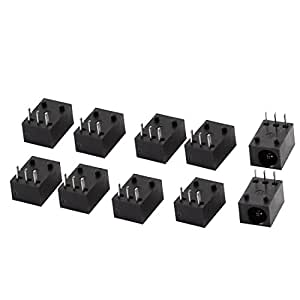 sourcingmap® 10 pièces 3 Broches 3.5mm x 1.3mm Prise Jack d'Alimentation DC Port De Charge Connecteur Femelle