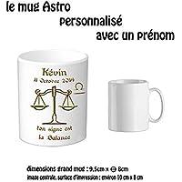 Texti-cadeaux-Mug céramique-Zodiaque Balance personnalisé avec un prénom exemple Kévin