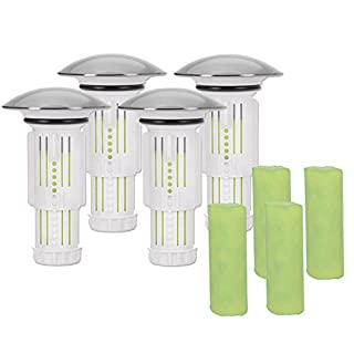 Abfluss-Fee Sealing Caps 4-Piece Set with 8 Stones, Waste Innovation in the Sanitary Market, Gift Set