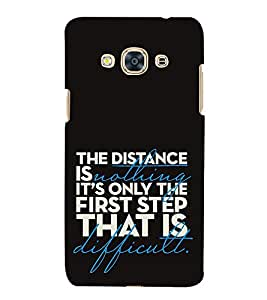 Fuson Designer Back Case Cover for Samsung Galaxy J3 Pro :: Samsung Galaxy J3 (2017) (The distance is nothing)