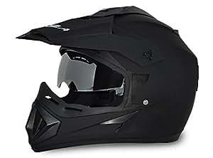 Vega Off Road OR-D/V-DK_L Full Face Helmet (Dull Black, L)