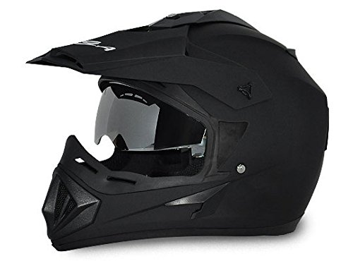 Vega Off Road OR-D/V-DK_L Full Face Helmet (Dull Black, L)