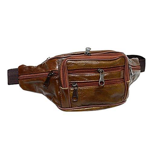Sports and Outdoor Belt Bag Chest Bag Gürteltasche Men Fashion Bag Pure Color Leder Schulter wasserdichte Umhängetasche Brusttasche Wallet Mini Mobile Phone Bag -