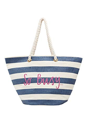 Joules Womens Seaside Fashionable Rope Handle Beach Tote Bag - Buxton Tote