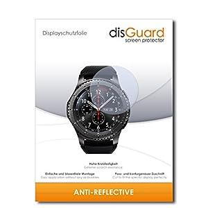 disGuard® Displayschutzfolie [Anti-Reflex] kompatibel mit Samsung Gear S3 frontier [2 Stück] Entspiegelnd, Matt, Antireflektierend, Extrem Kratzfest, Anti-Fingerabdruck – Panzerglas Folie, Schutzfolie