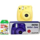 Fujifilm Instax Value Cam Mini 8 with 20 Films Shot (Yellow)